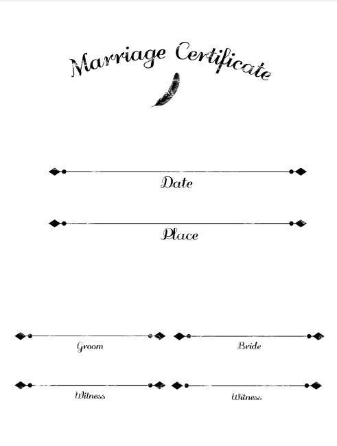 オシャレな結婚証…